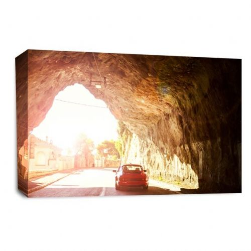Porsche Car 911 Wall Art Picture Bright Light Tunnel Print